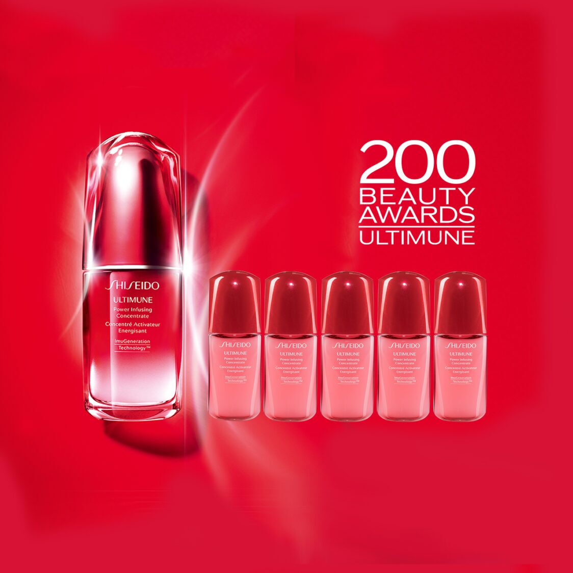 Shiseido Ultimune Power Infusing Concentrate Set at 150 Worth 300