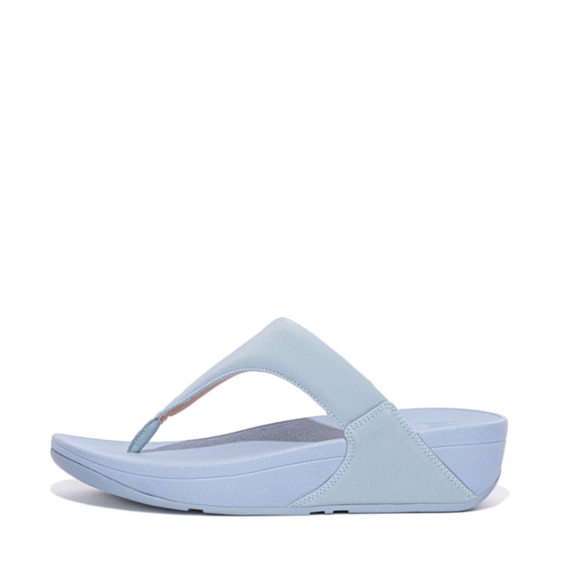 Fitflop Lulu Toe-post Sandals Pale BlueBeige EE4-896
