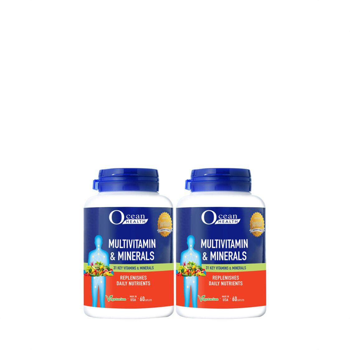 Ocean Health Multivitamin  Min Caplet 2x60s