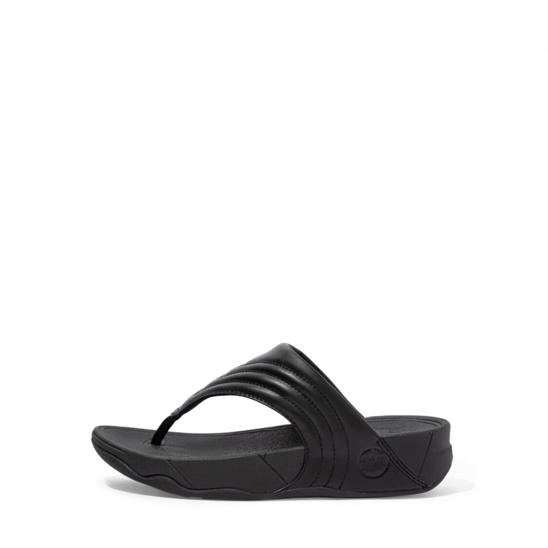 Fitflop Walkstar Leather Toe-Post Sandals All Black Dx5-090
