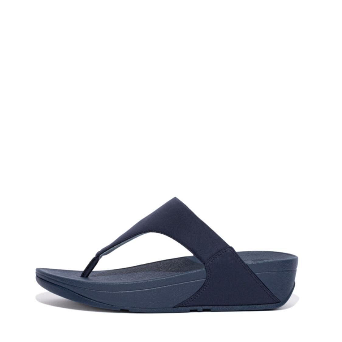 Fitflop Lulu Toe-post Sandals Midnight NavyPale Blue EE4-893