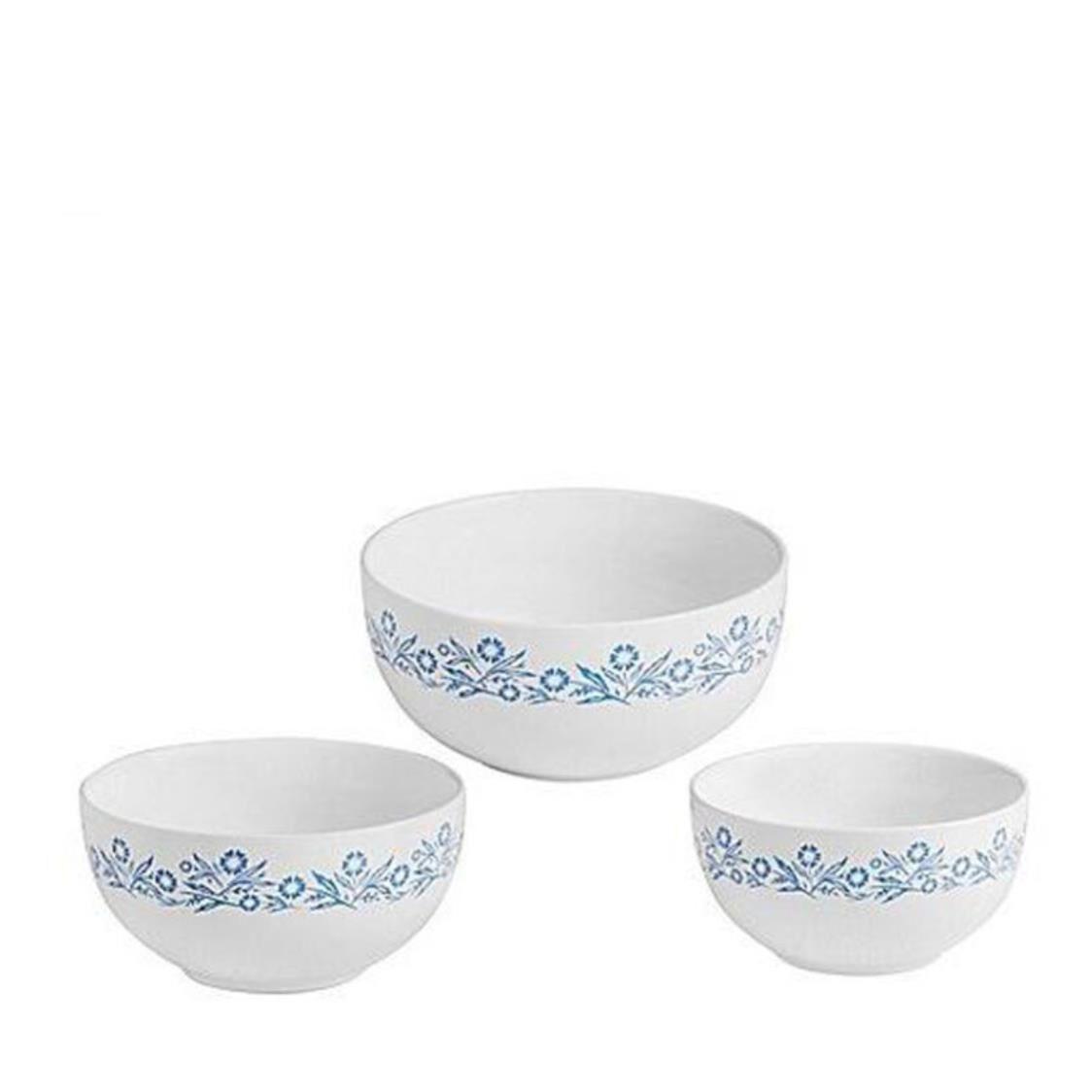 Corningware Blue Cornflower 3pc Mixing Bowl
