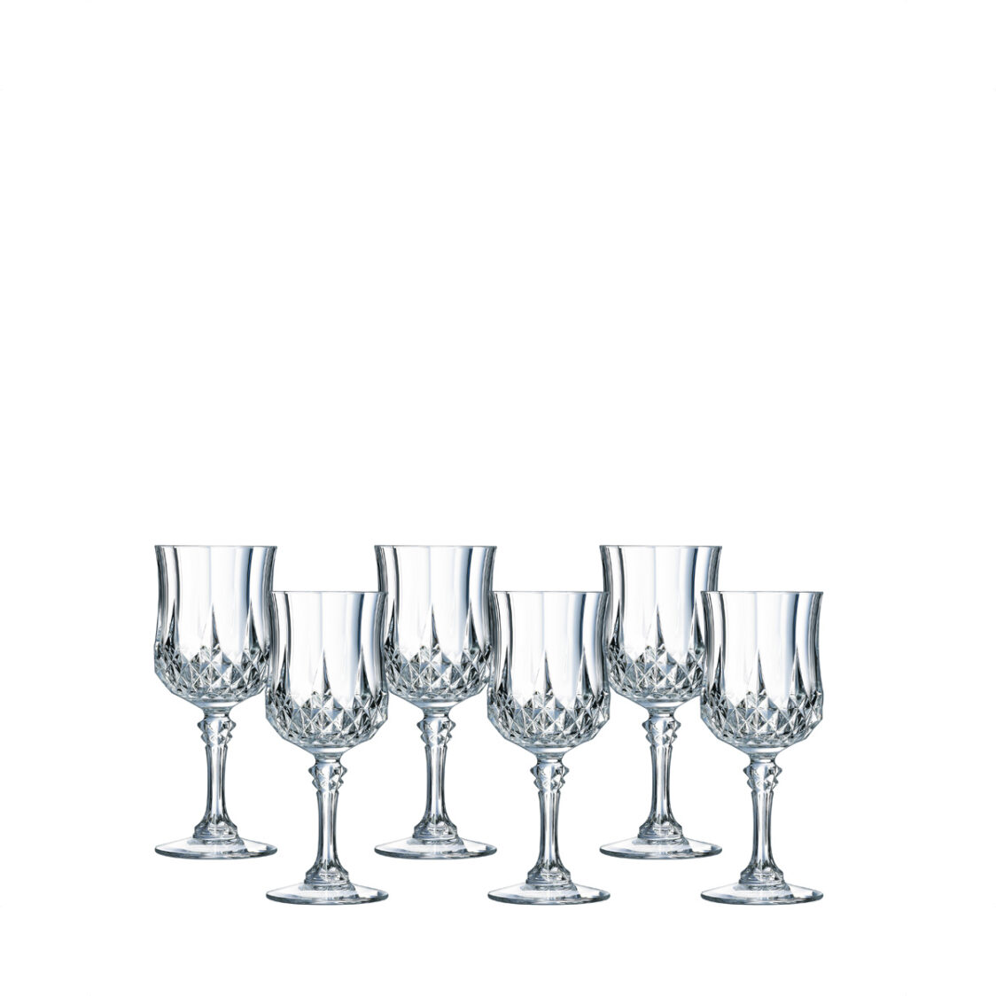 Cristal DArques Longchamp 6pc 25CL Stemglass Set Made In France