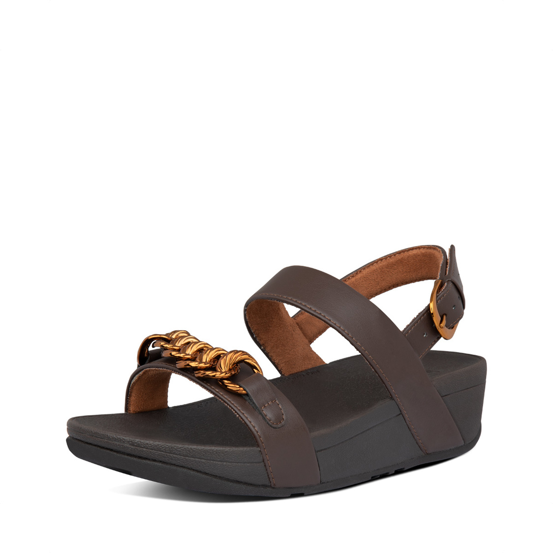 Fitflop Lottie Chain Back-Strap Sandals Chocolate Brown