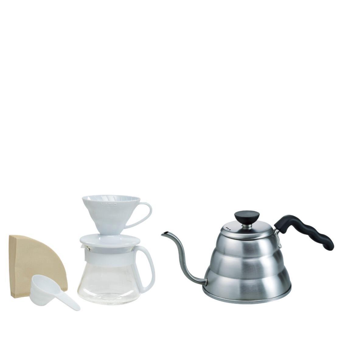 Hario V60 Craft Coffee Maker Set - White VDSP-2012W-EX  VKB-100HSV