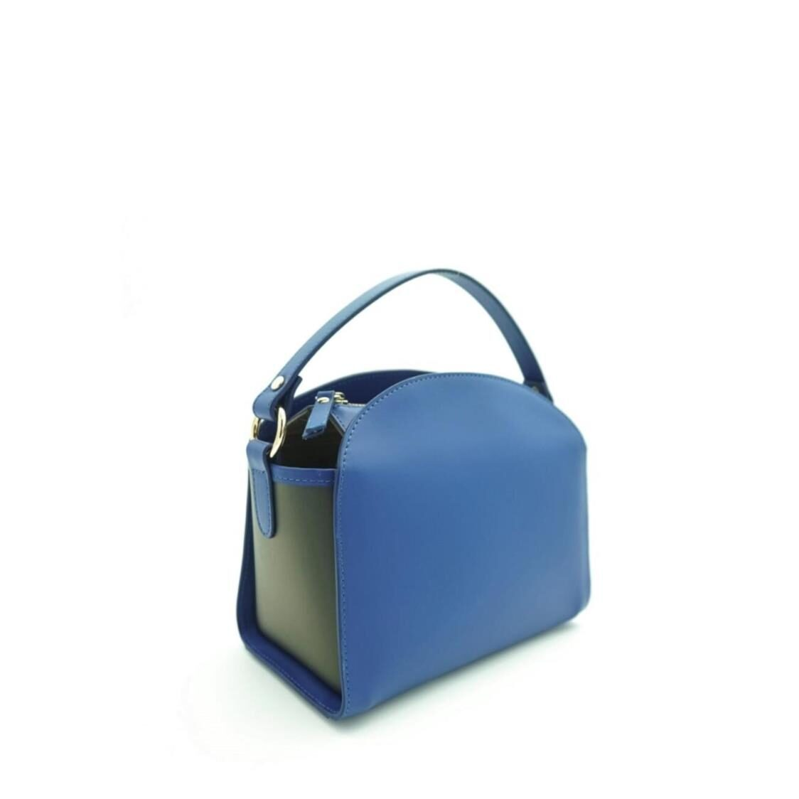 Kurt Woods Italian Leather Crossbody Blue