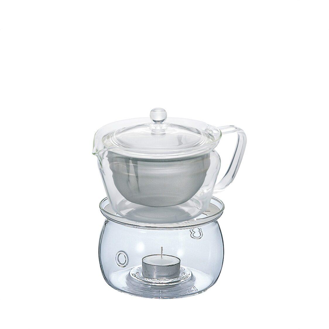 Hario 450ml Green Tea Pot  Warmer Set - Made In Japan CHZ-45T  TWN-S