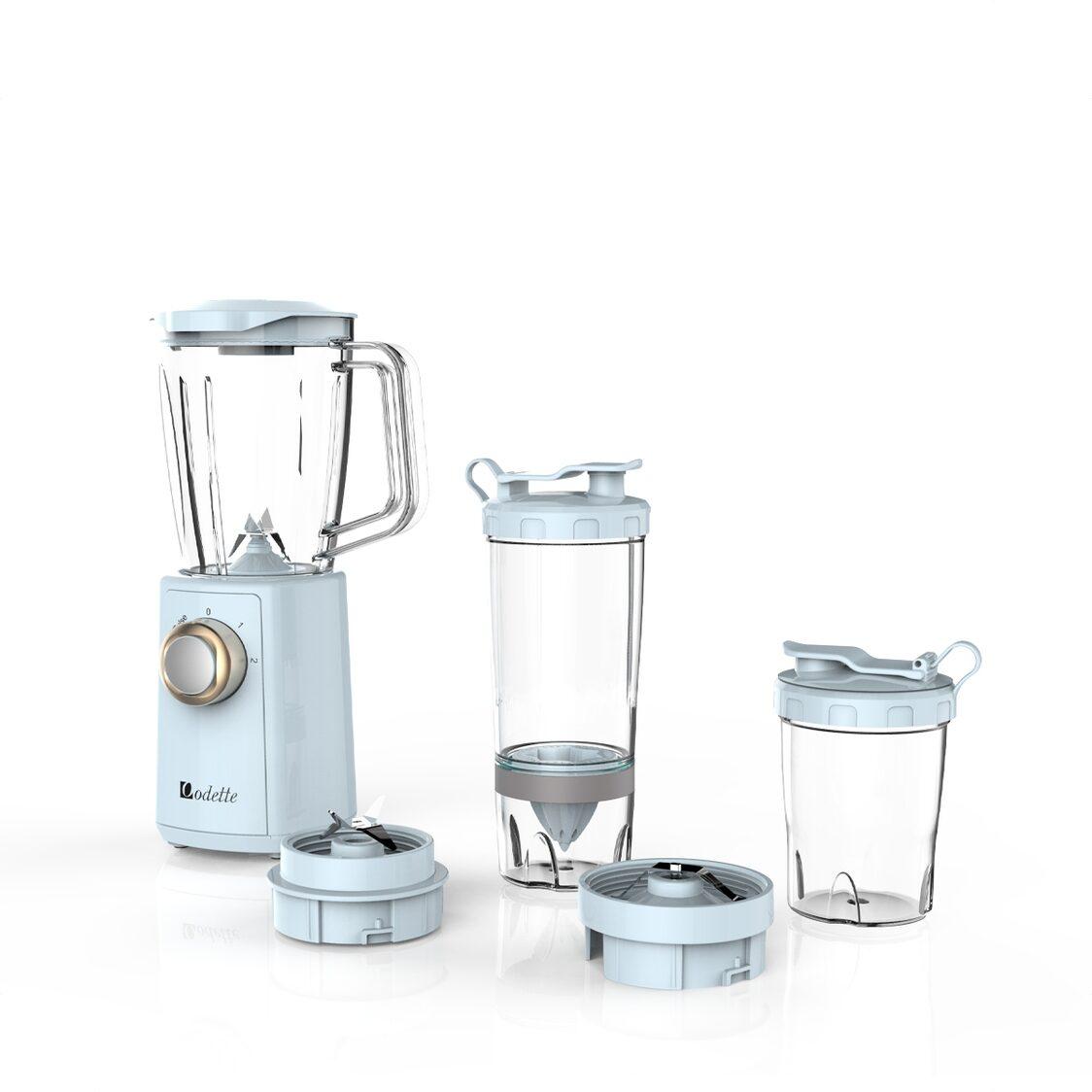Odette 2 Speeds Blender with Lemon Juicer and Grinder Light Blue