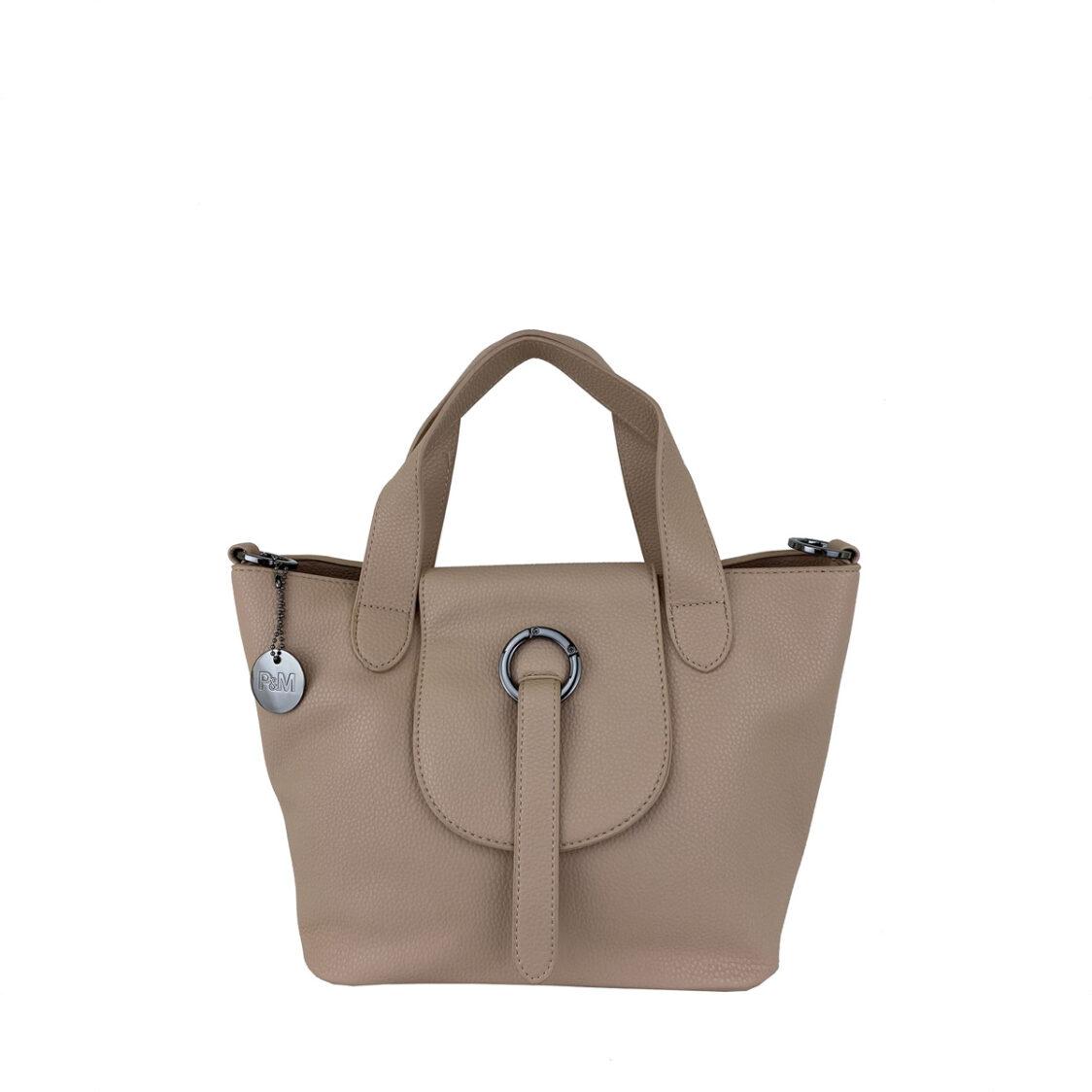 Perllini  Mel Top Handle Bag Beige