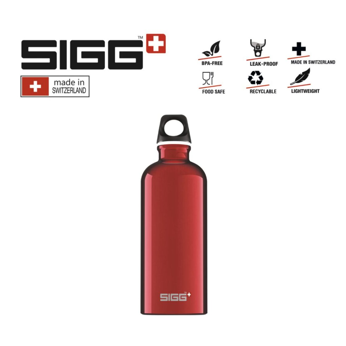 Sigg Travekker Water Bottle 600ml Red