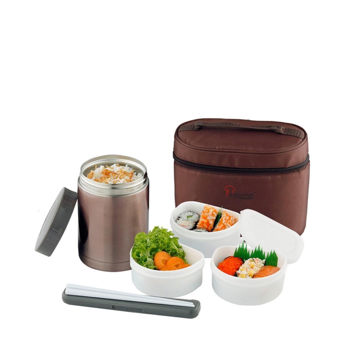 La Gourmet Sakura 4pc Food Jar Set With Pouch