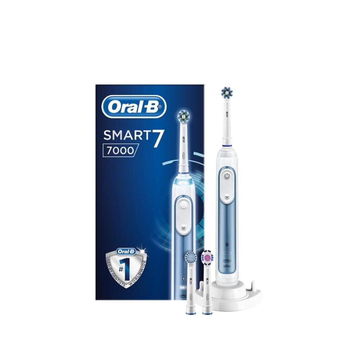 Oral B Smart 7000 Rechargeable Electric Toothbrush Round Oscillation Cleaning Bluetooth White Braun