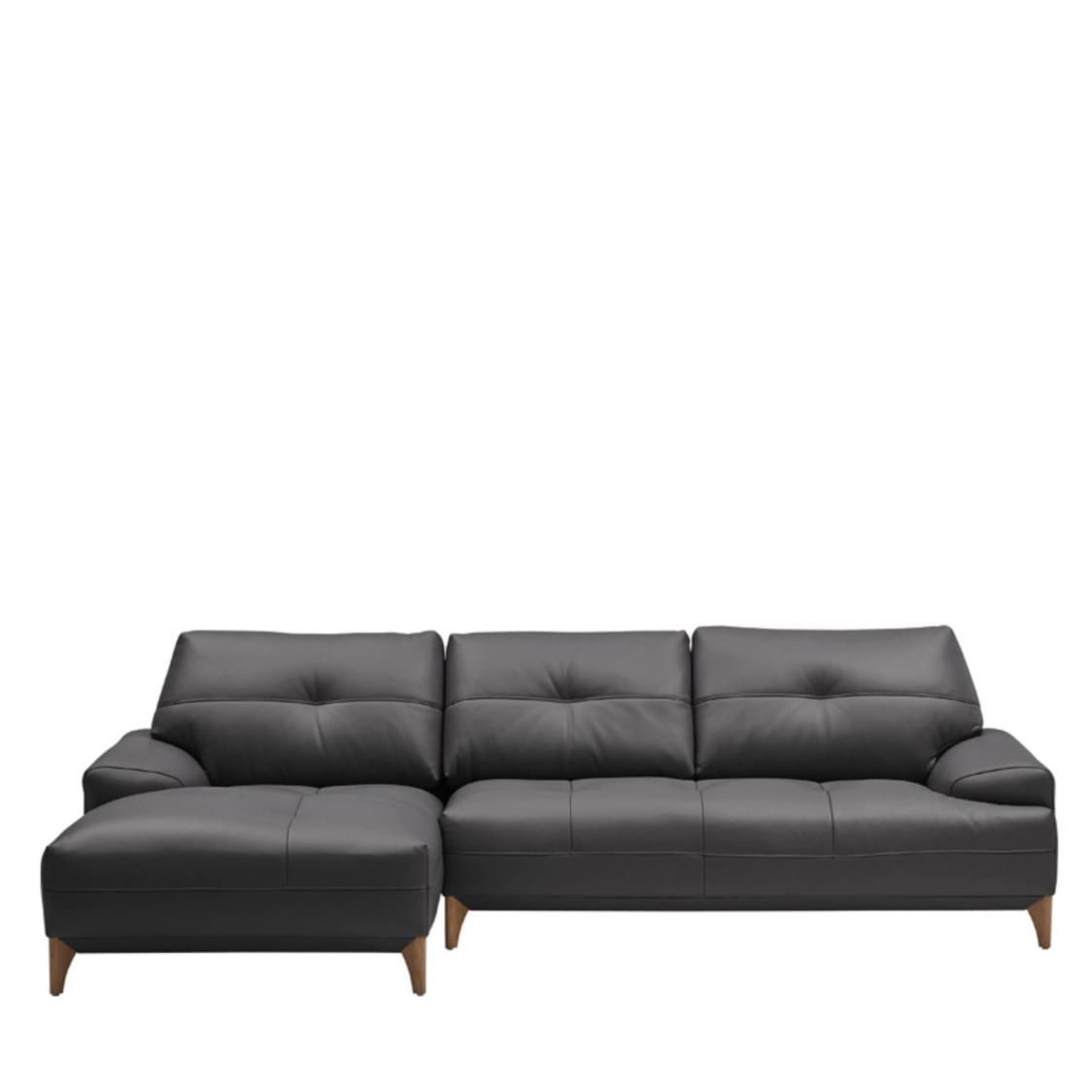 Iloom Boston Leather Couch L L391 Shadow Grey