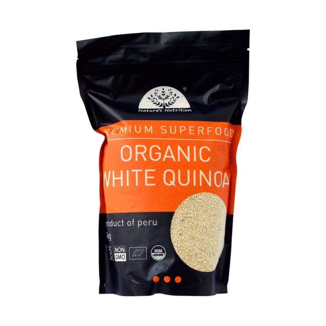 Natures Nutrition Organic White Quinoa 1kg