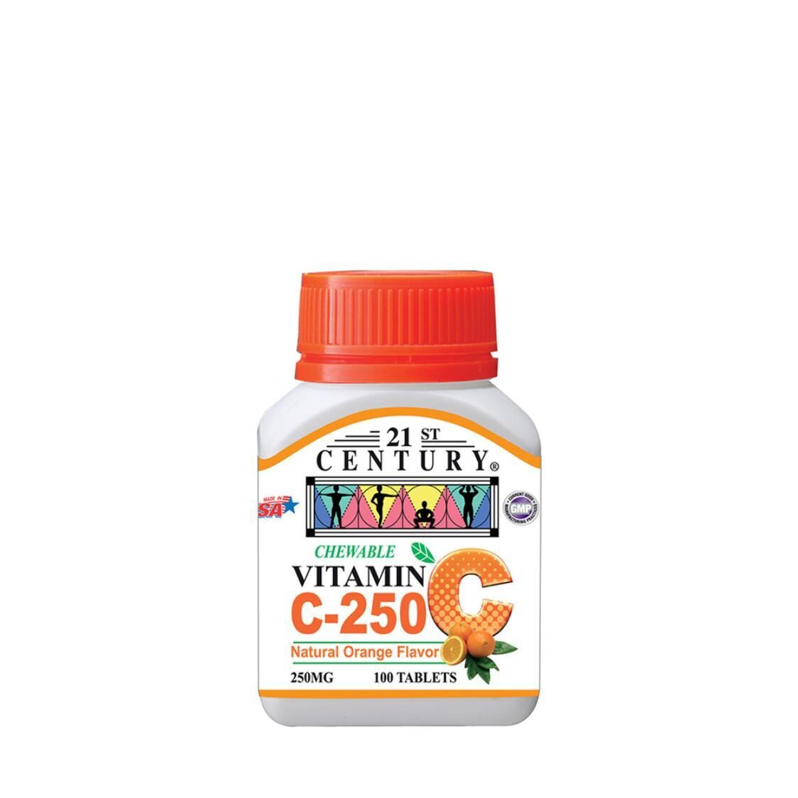 C250mg Orange Chewable 100s