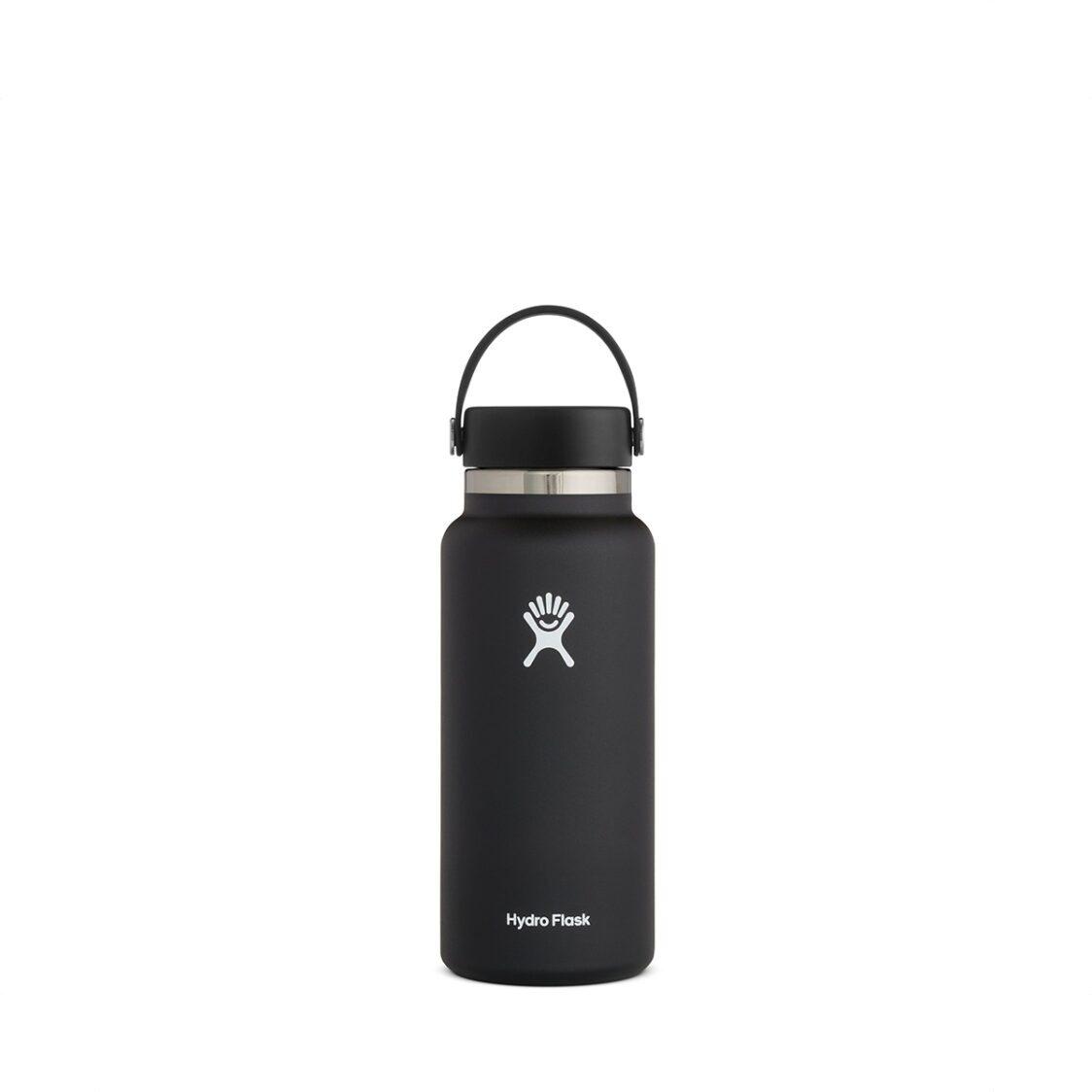 Hydro Flask Wide Mouth Flex Cap 32oz Black