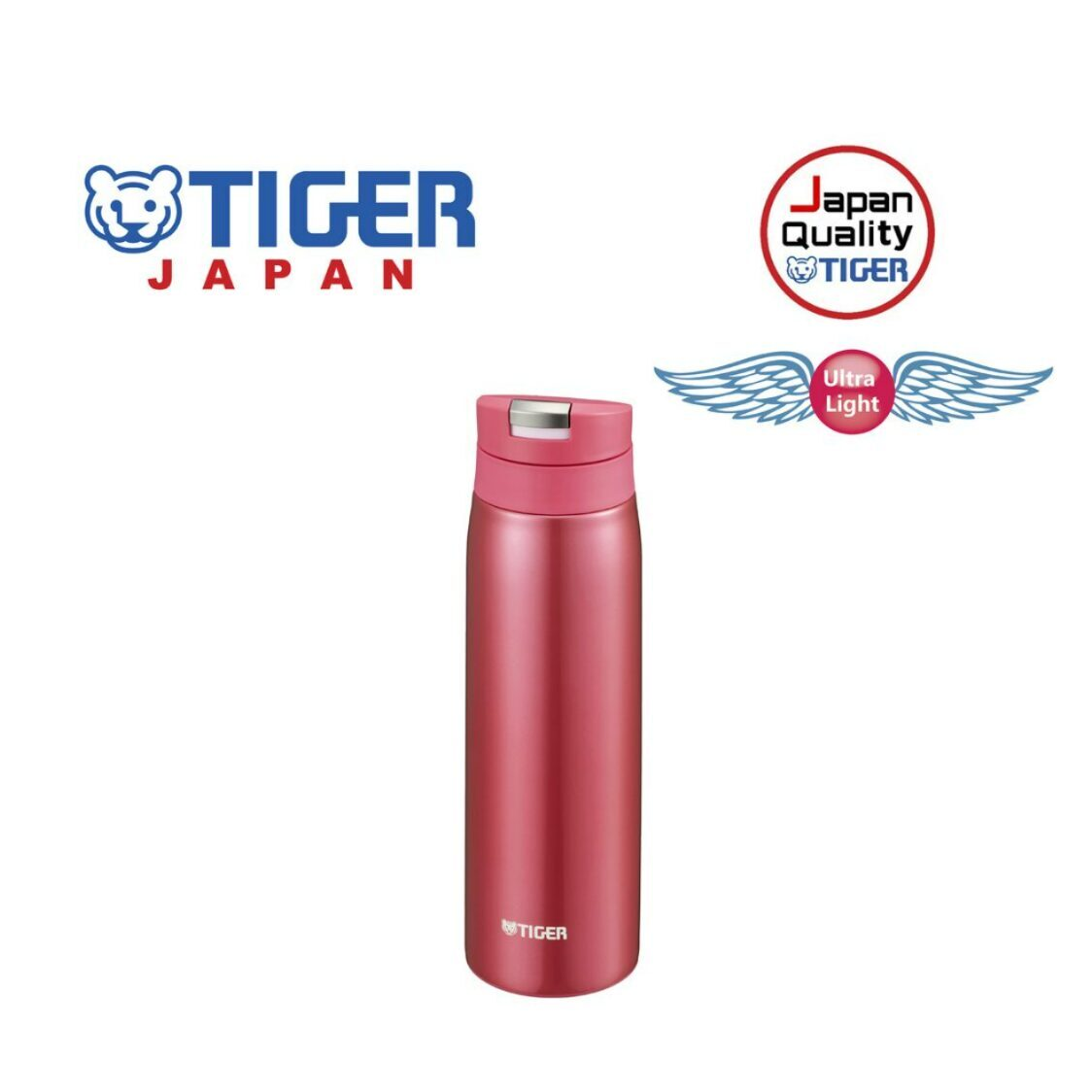 Tiger 500ml Double Stainless Steel Mug MCX-A501PO - Opera Pink