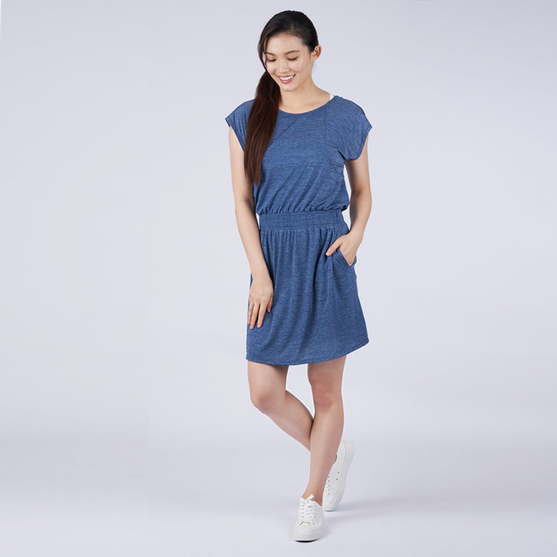 Yumi Active Airy Escape Dress Heather Navy