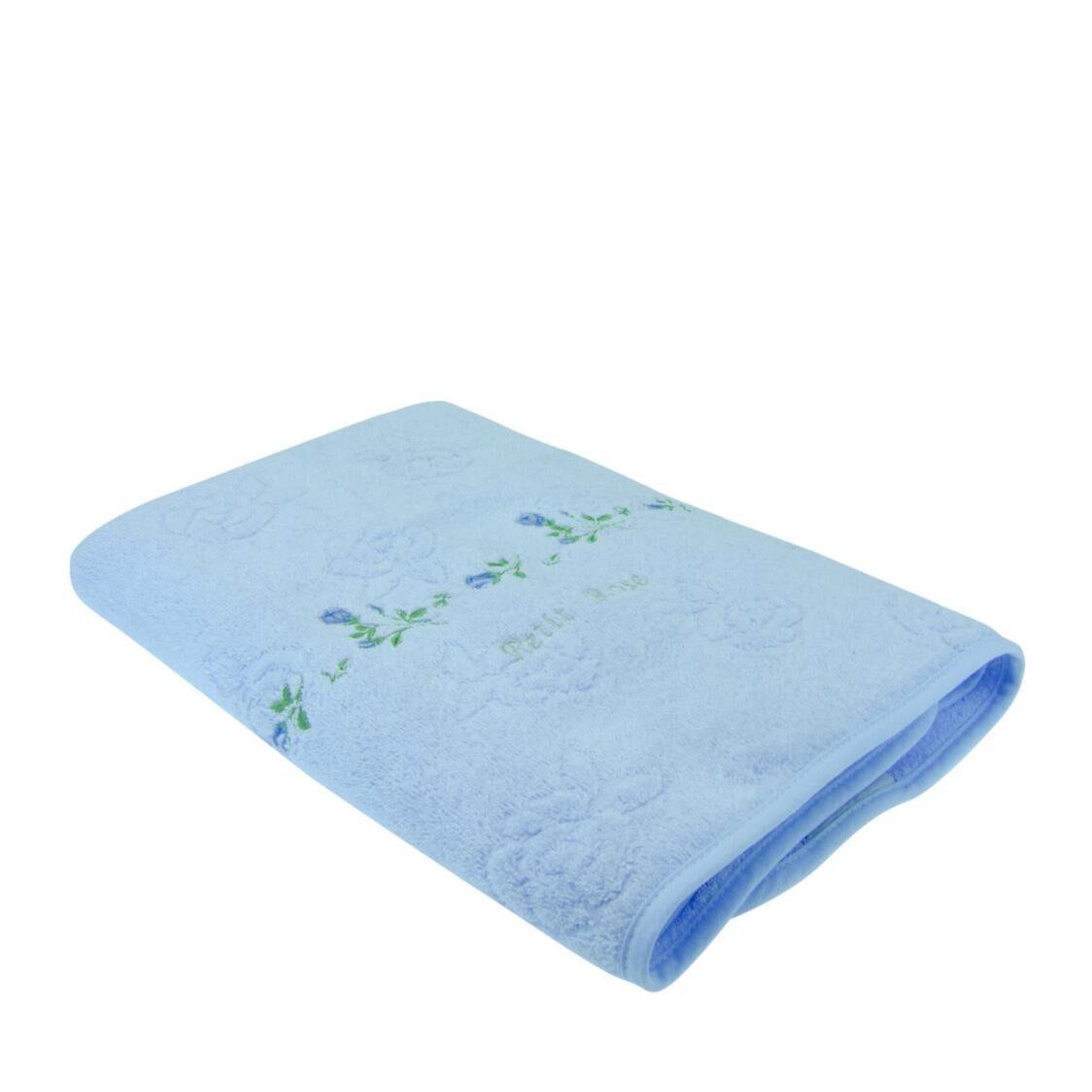 Petit Rose 100 Combed Cotton Bath Towel Blue