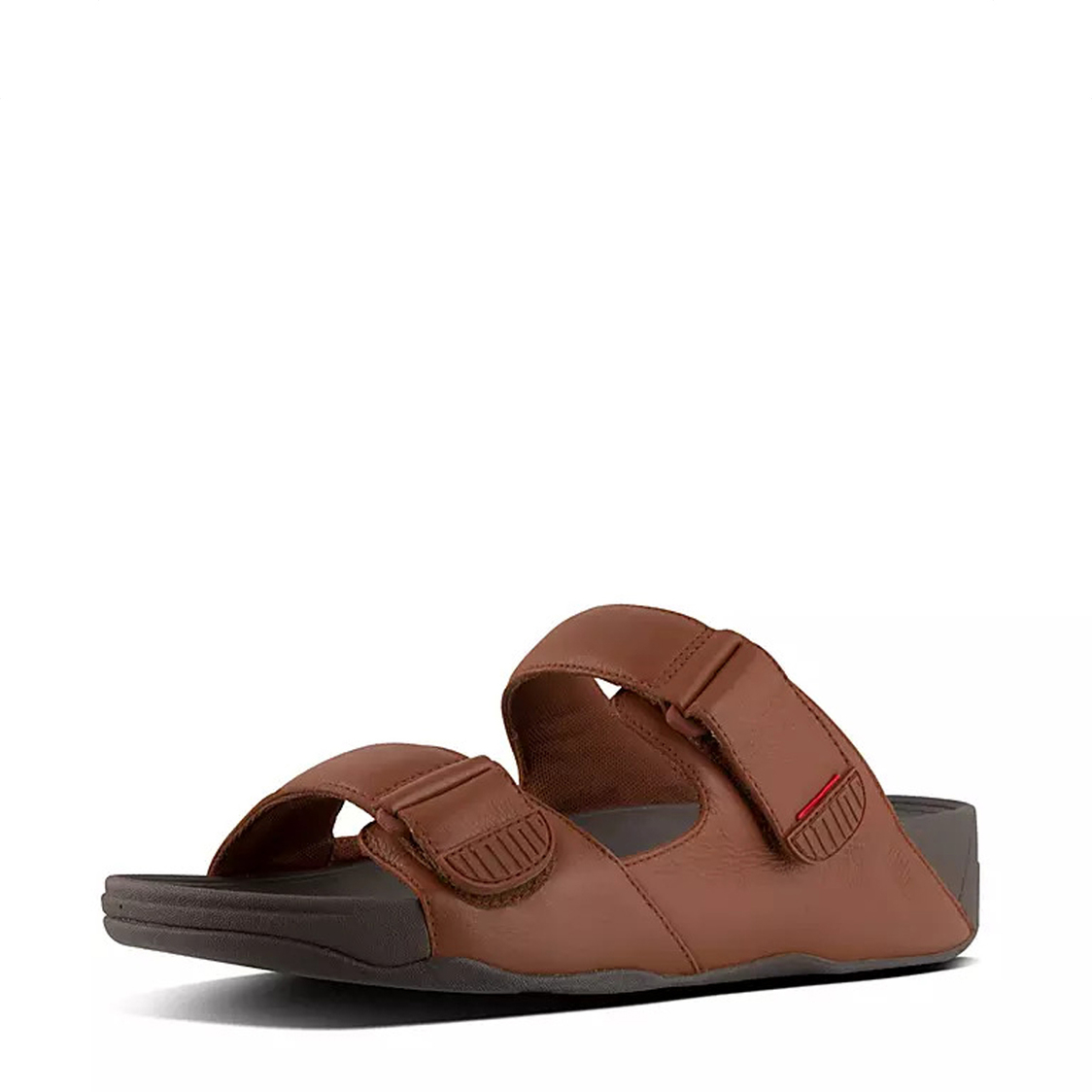 FitFlop Gogh Moc Slide In Leather Dark Tan