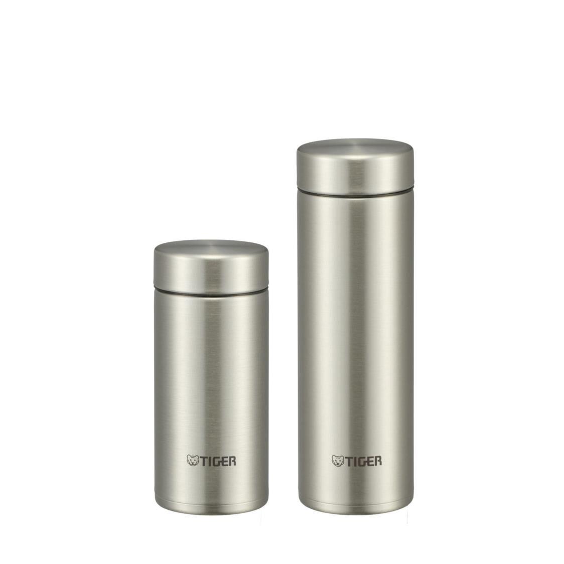 Tiger 200ML300ML Ultra Light Double SSteel Bottle Set - Clear Stainless MMP-J021  MMP-J031 XC