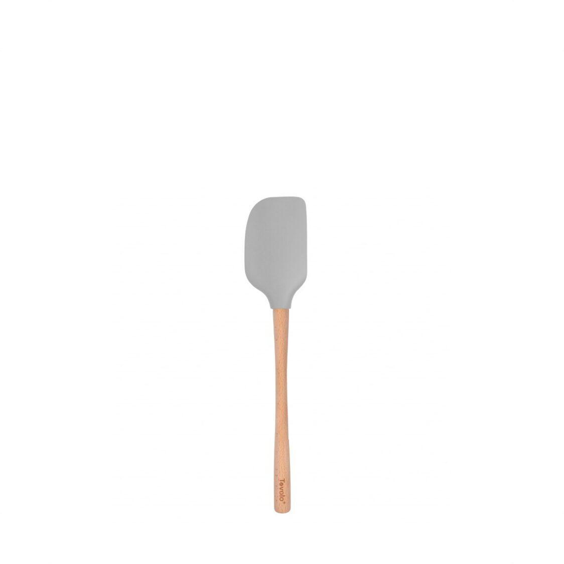 Tovolo Flex-Core Wood Handled Spatula Oyster Gray