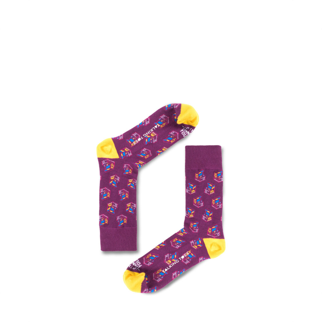 Talking Toes Nothings Gonna Stop You Now Purple Arcade Socks