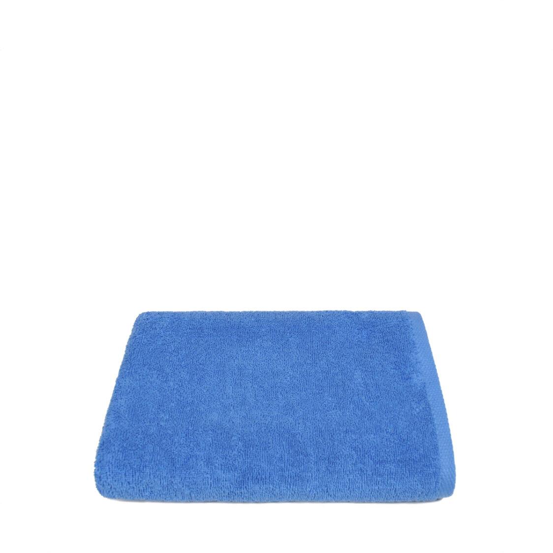 Red Orange Delight Bath Towel Blue