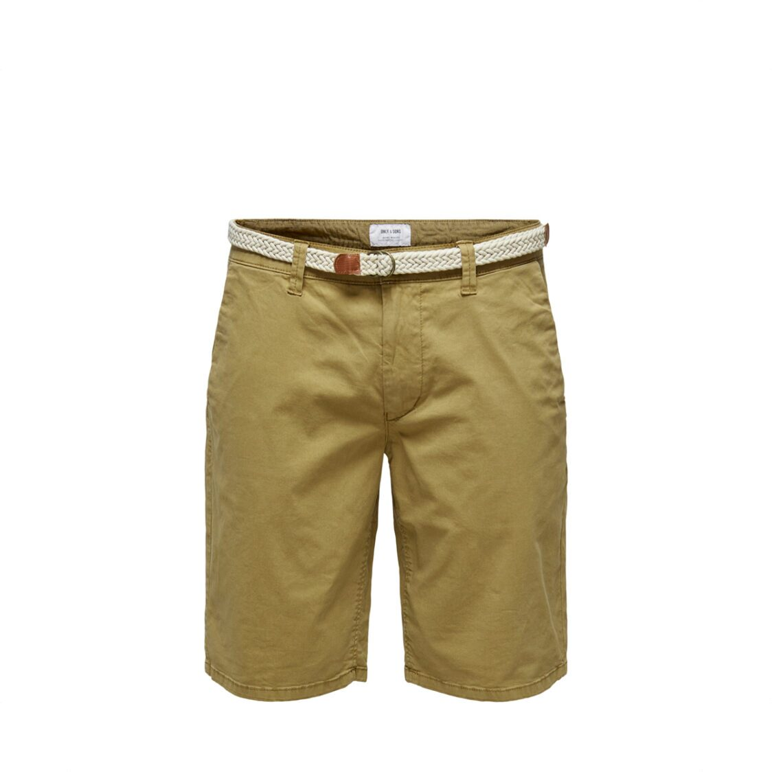 Only  Sons Onswill Chino Shorts Belt  6557 Noos Dull Gold