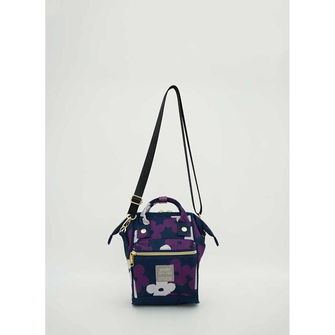 Anello X Sousou 2Way Micro Shoulder Bag Navy