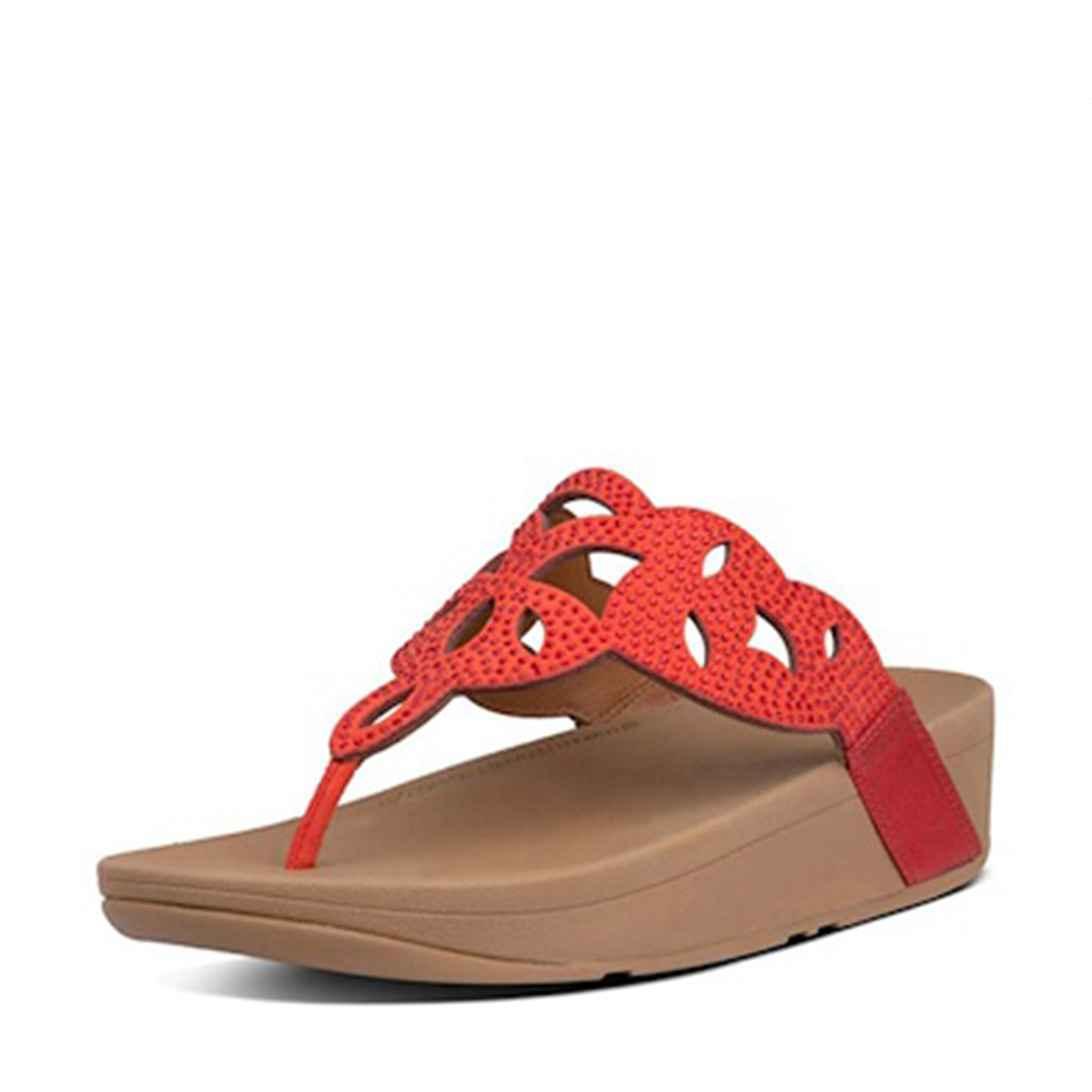 FitFlop Elora Crystal Toe-Thongs Red