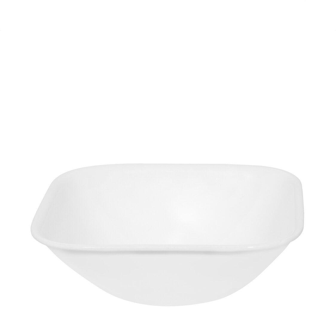 Corelle Square Round 10oz Bowl Winter Frost White