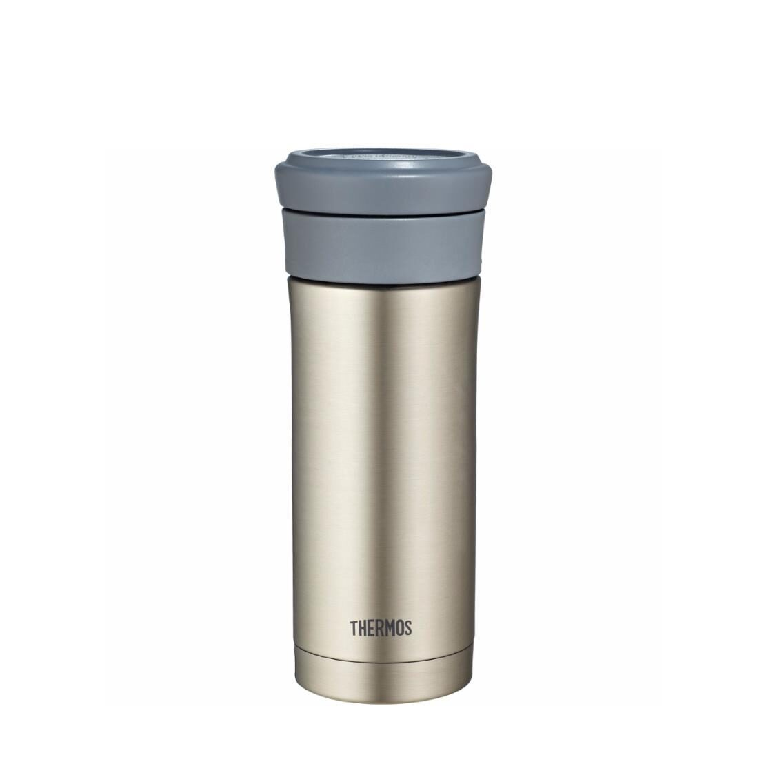 Thermos Stainless Steel Tumbler with Strainer Stainless Black 500ml