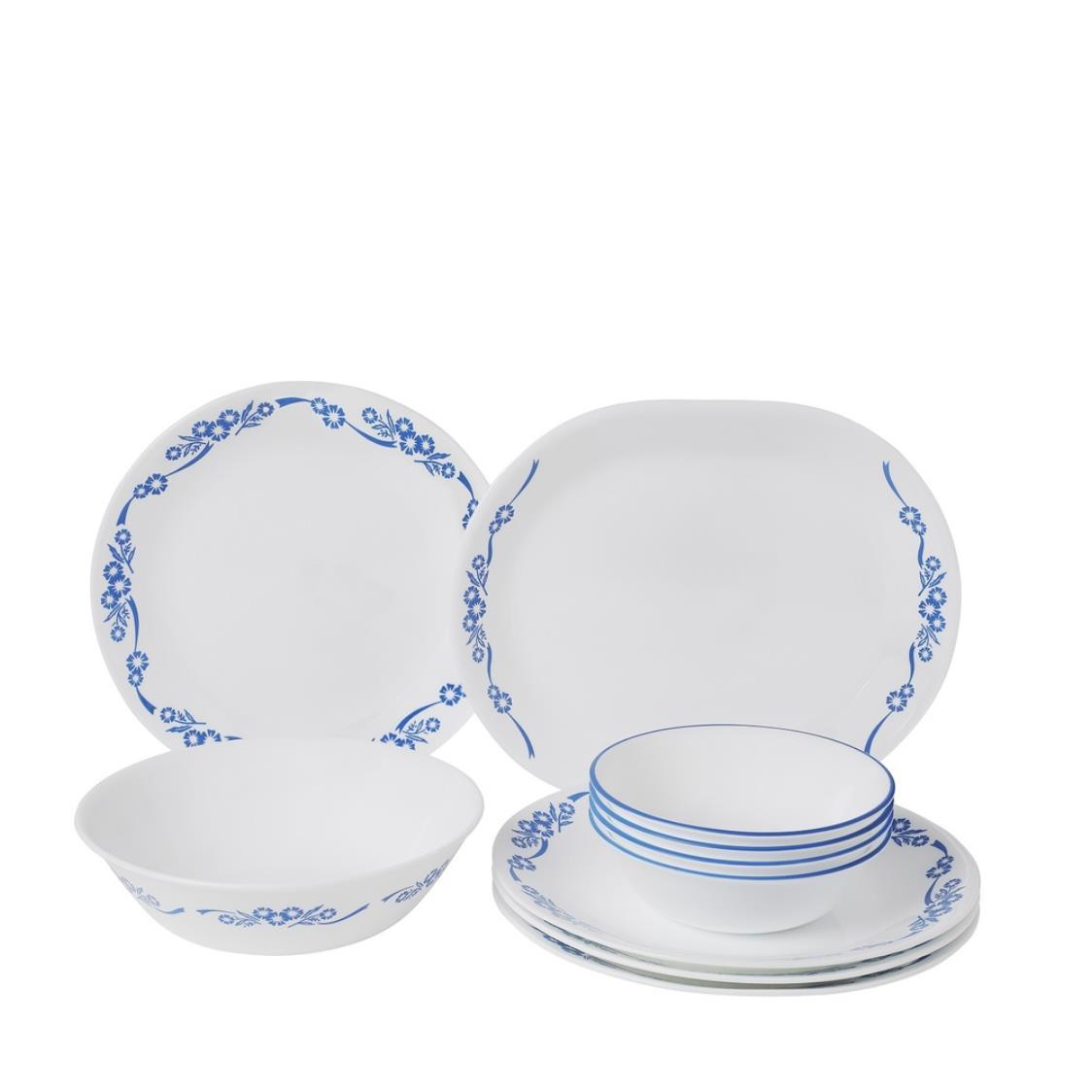 Corelle 10pc Dinner Set Blue Cornflower