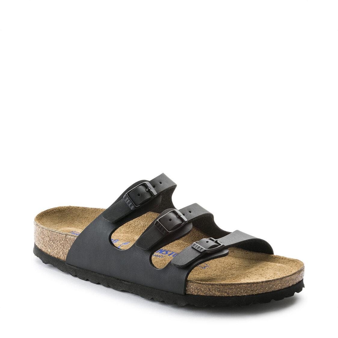 Birkenstock Florida Birko-Flor Soft Footbed Womens Regular Width Sandals Black