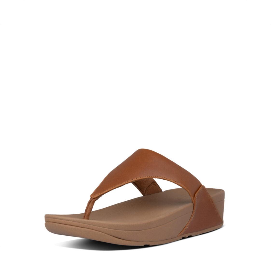 Fitflop Lulu Leather Toepost Light Tan I88-592