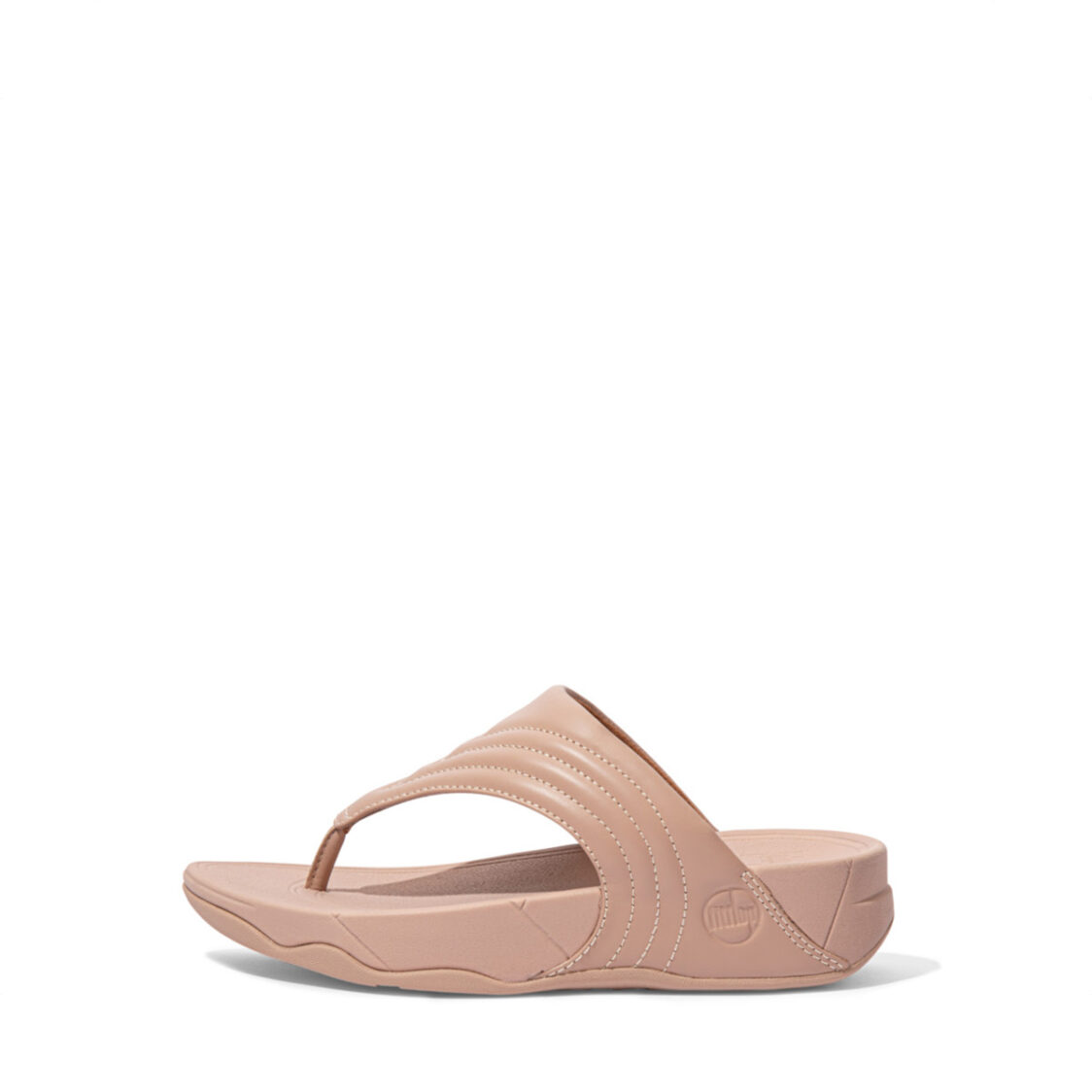 Fitflop Walkstar Leather Toe-Post Sandals Beige Dx5-137