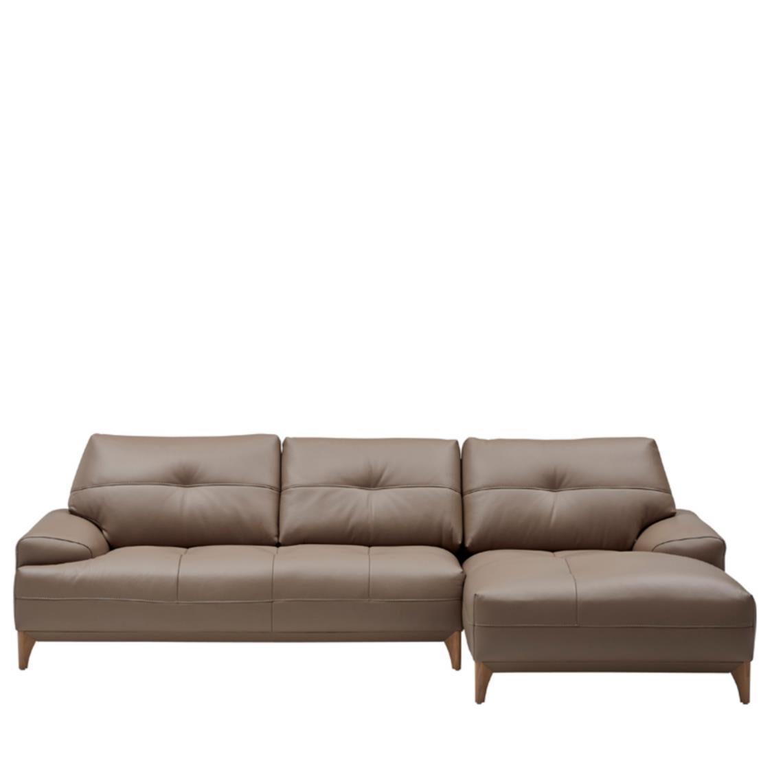Iloom Boston Leather Couch R L392 Cocoa