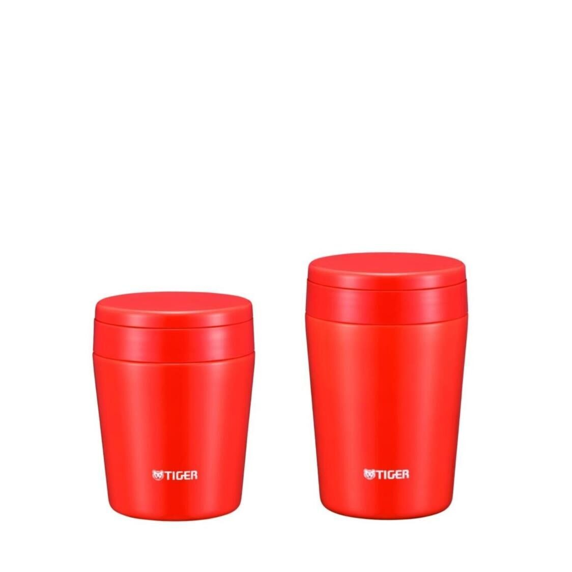 Tiger 300ml380ml Double Stainless Steel Soup Cup Set - Red