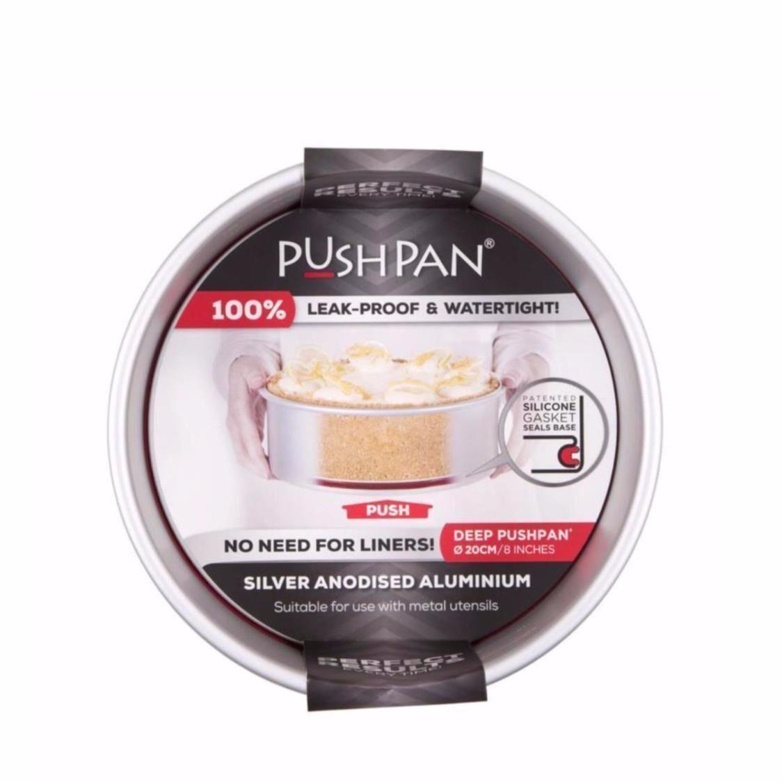 Pushpan Anodised aluminium Pushpan  Deep Round Tin 8 20cm