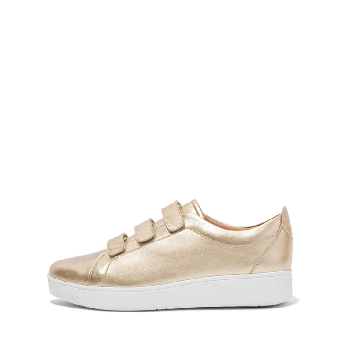 Fitflop Rally Quick Stick Fastening Leather Sneakers Platino EL8-675