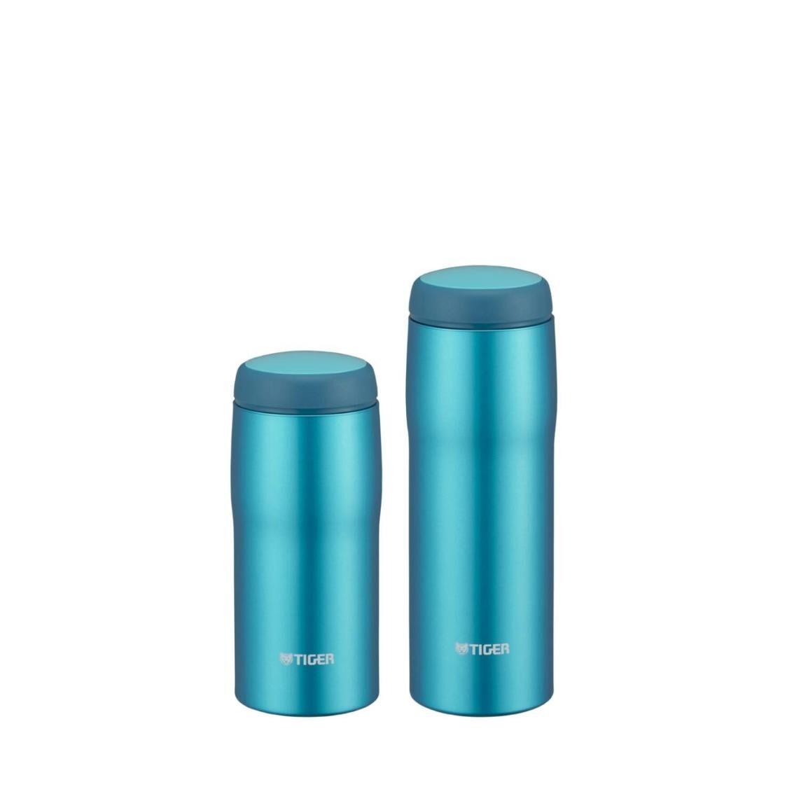 Tiger Bundle - 360ml  480ml Double Stainless Steel Mug Set Bright Blue