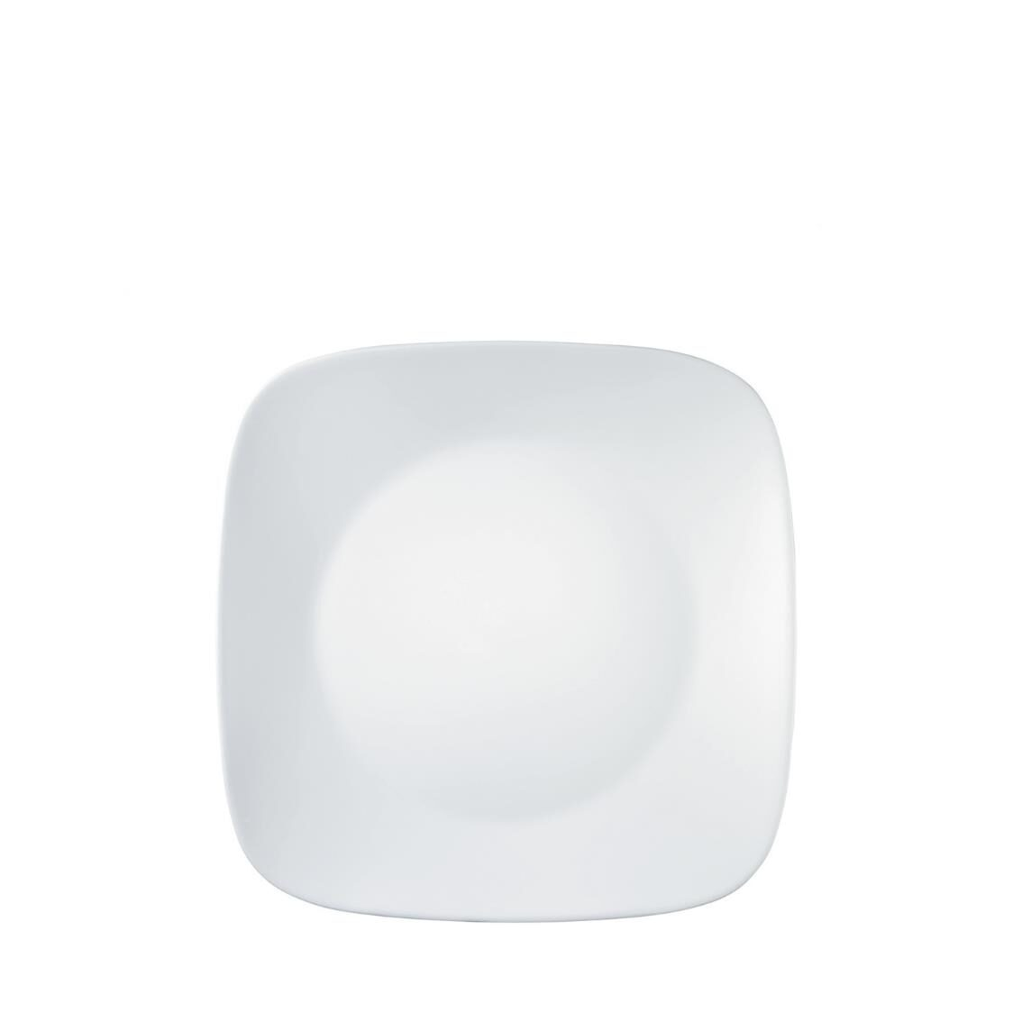 Corelle Square Round Dinner Plate Winter Frost White
