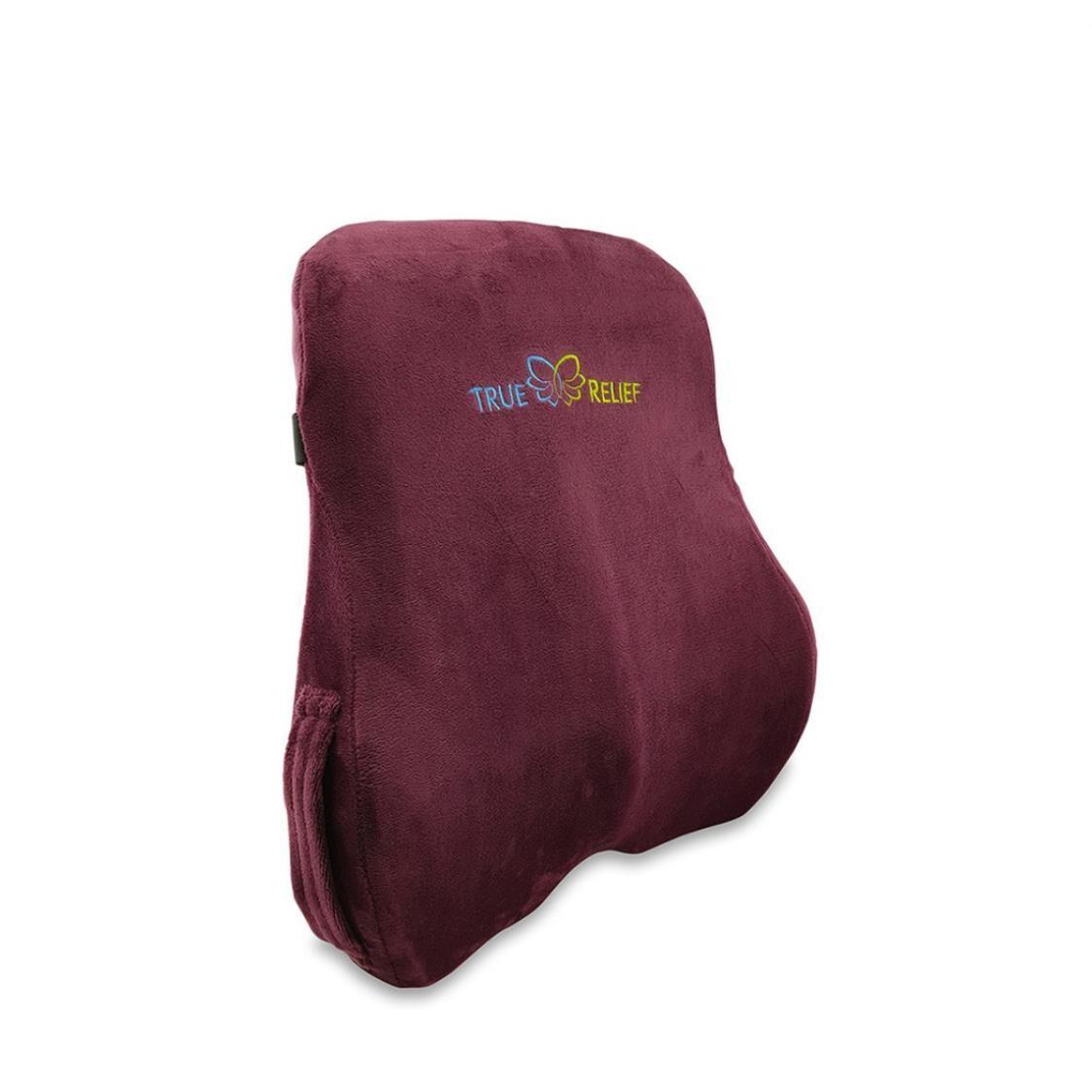 True Relief Memory Foam Back  Lumbar Support Cushion