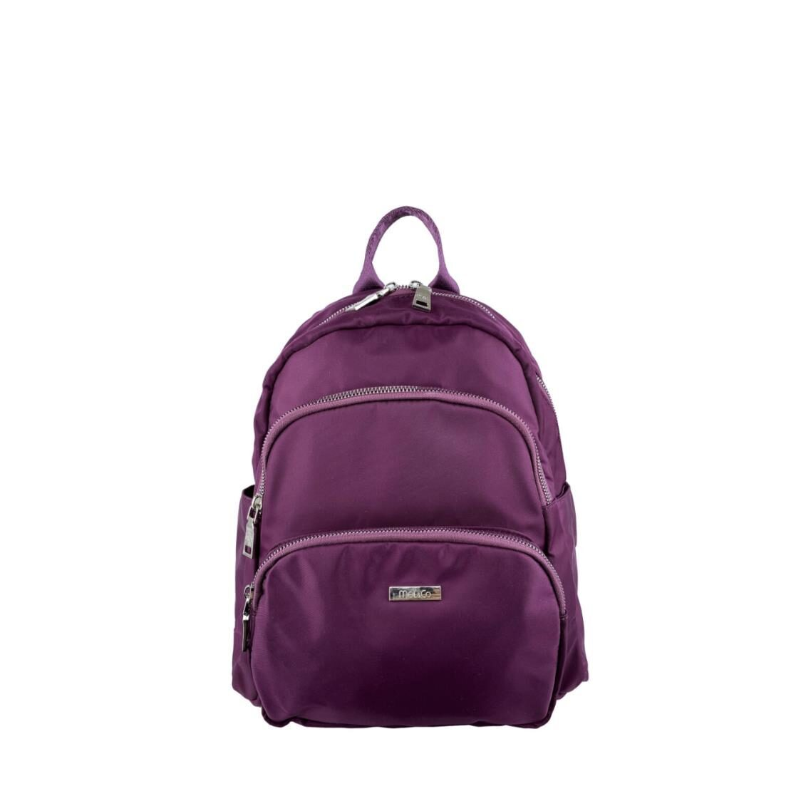 MelCo Nylon Round Top 3 Layer Backpack