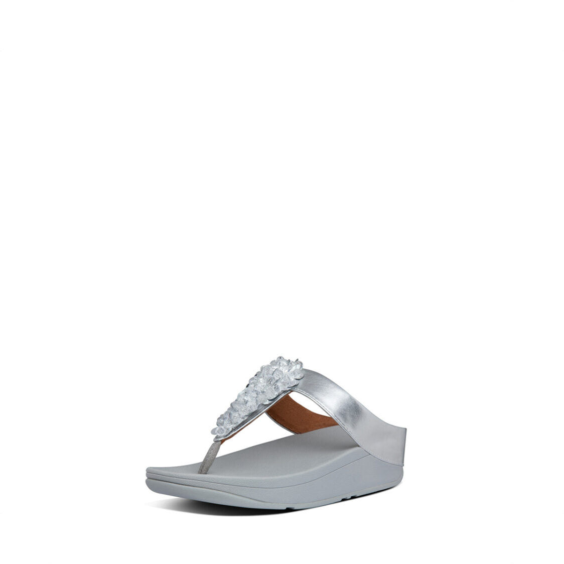 Fitflop Fino Sequin Toe-Thongs-Silver
