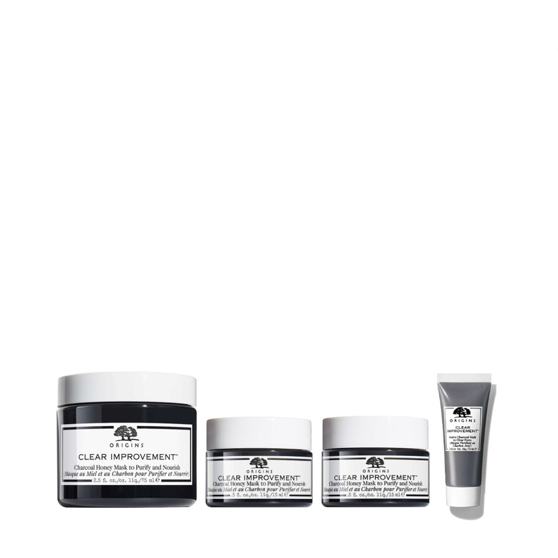 Origins Clear Improvement Charcoal Honey Mask to Purify and Nourish 75ml Set worth 102