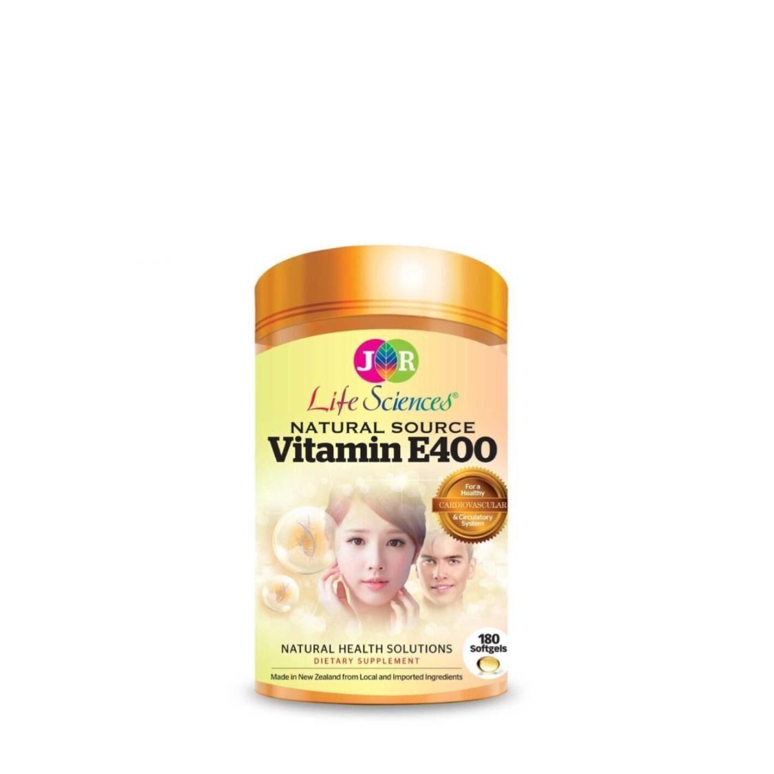 JR Life Sciences Natural Source Vitamin E400 180 Softgels
