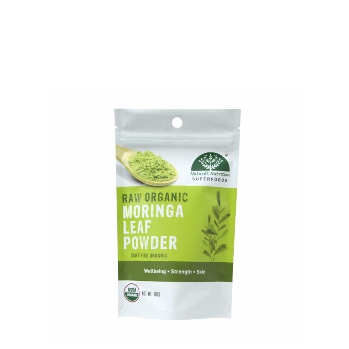 Natures Nutrition Organic Moringa Leaf Powder 100g