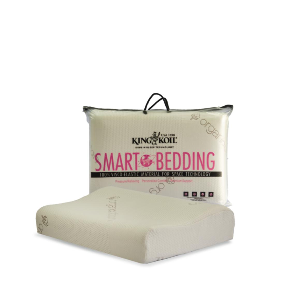King Koil Smart Bedding Comfort Pro-Contour Pillow Organic Cotton